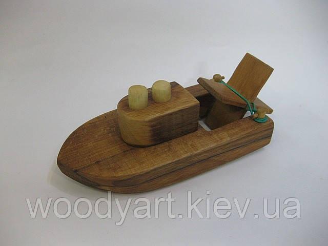 Деревянный кораблик, игрушка