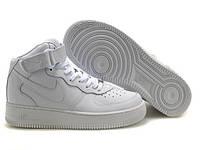 Высокие белые женские кроссовки Nike Air Force 1