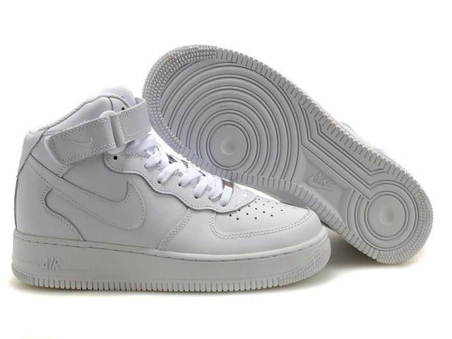 becb922f Высокие белые женские кроссовки Nike Air Force 1 - Интернет магазин обуви  Wikishoes в Киеве