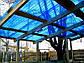 Прозрачный шифер ПВХ синий трапеция, фото 2
