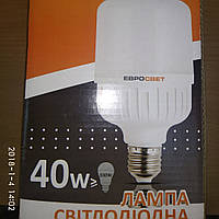 Лампа Светодиодная EVRO-PL-40-6400-27 / Лампа світлодіодна EVRO-PL-40-6400-27