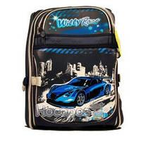Рюкзак ʺWillyʺВилли WL-826 ʺСпортивные машиныʺ каркасный, синий