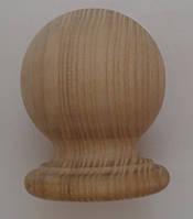 """Навершия деревянное на столб из ясеня """"шар"""""""