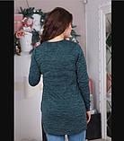 Экстравагантная зеленая кофта 1070, фото 2