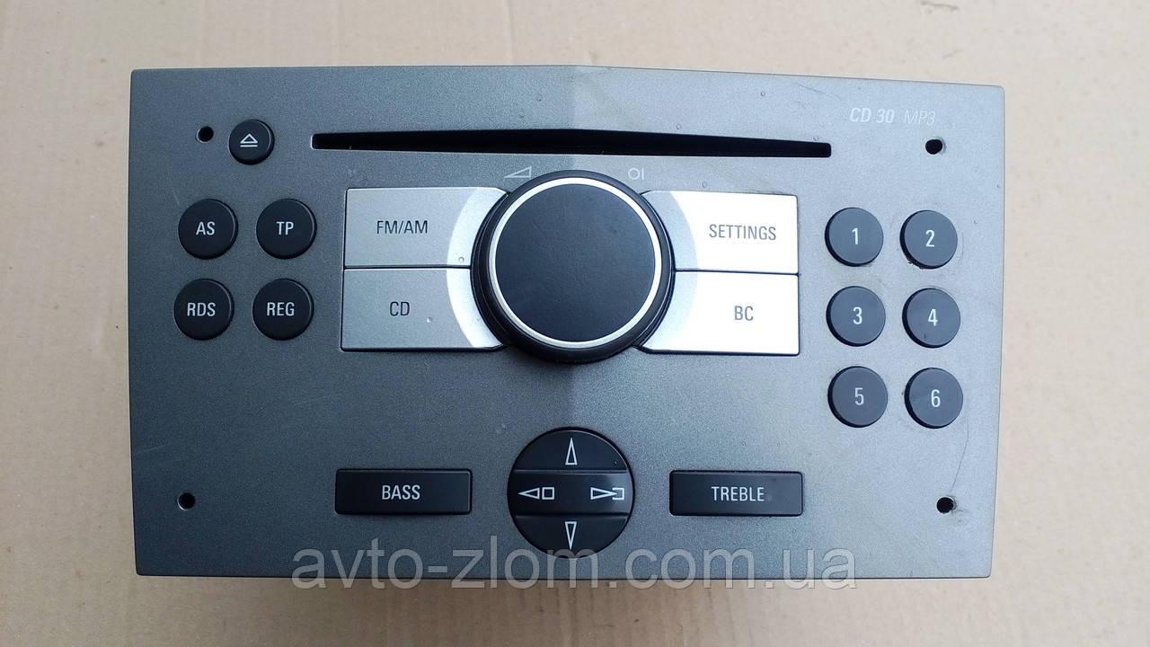 Магнитола Opel Astra H CD 30 MP3, Опель Астра. 13 154 304.