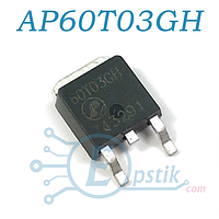 AP60T03GH, MOSFET транзистор N-канал, 30В, 45А, TO252