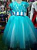 бальное платье бирюза для девочки до 4 - 8 лет