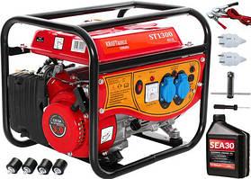 Бензиновый генератор Kraftdele ST1300 1.5 кВт + масло SEA 30 0.6L