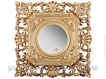 """Зеркало настенное 37х37 см. """"Акцент"""" из полистоуна, золотистое Euromarchi"""