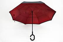 Комфортный механичный зонт цвета марсал
