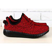 Мужские кроссовки красные со шнурками