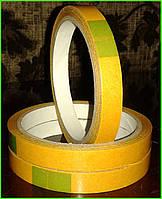 Скотч поліпропіленовий 12мм х 10м х 90мкм, двосторонній прозорий, фото 1