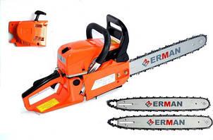 Бензопила ERMAN 2000W + MEGA комплект