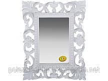 """Зеркало настольное 18х23 см. """"Акцент"""" прямоугольное, из полистоуна, белое Euromarchi"""