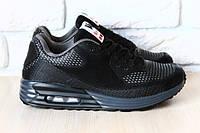 Кроссовки женские, черные, на шнурках