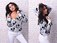 Вязаный свитер с Дисней Маусом. длинный рукав.,60% ACRILYC\АКРИЛ 40% COTTON\ХЛОПОК made in Turkey вмаг №8075