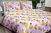 Подростковое и полуторное постельное бельё Мишки на фиолетовом