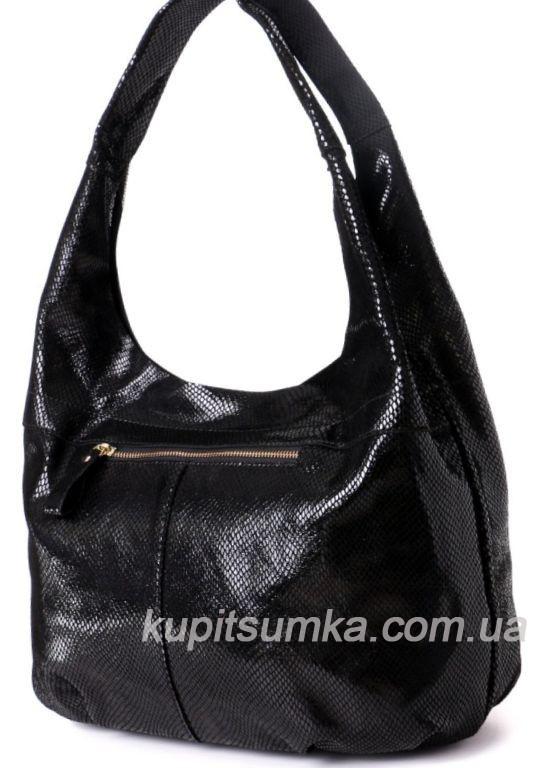 3cd33436fd90 Женская сумка чёрного цвета из натуральной замши с лазерным покрытием, ...