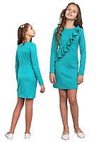 Платье  детское с длинным рукавом   М -1116  рост 128 134 140 146 152 158 164 170 ткань мемори, фото 1