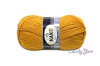 Турецкая пряжа Nako Sport Wool №10129 Темно желтый