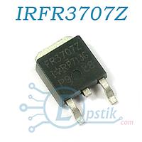 IRFR3707Z, Mosfet транзистор N-канал, 30В 56А, TO252