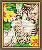 "Алмазна мозаїка ""Кошеня в квітах"""