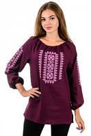 Сорочка вышиванка Орнамент (бордо)