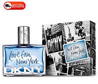 Мужская туалетная вода DONNA KARAN DKNY LOVE FROM NEW YORK EDT 100 ML