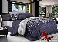 Двуспальный комплект постельного белья из ранфорса R90526 navi