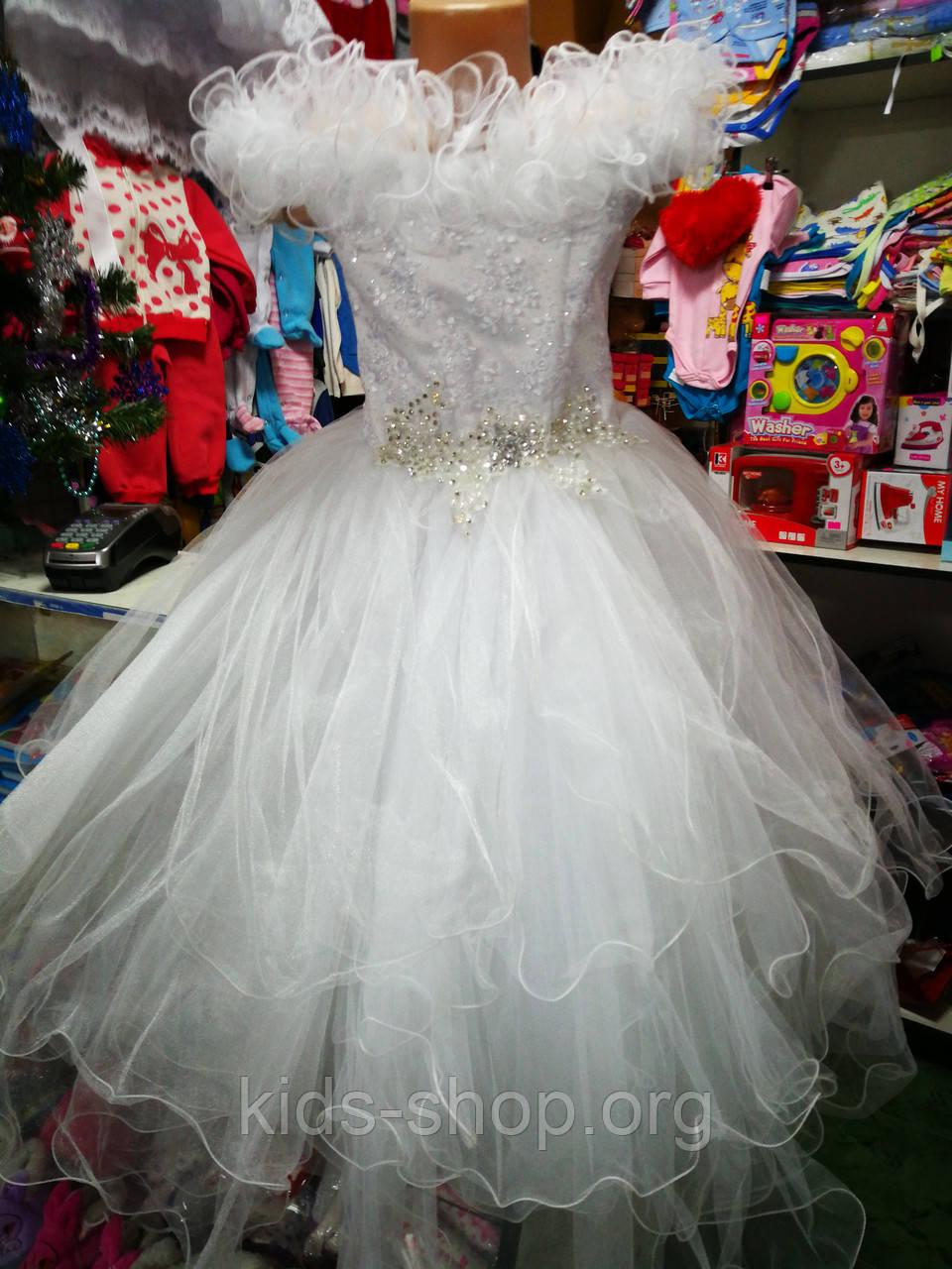 a42b20f0714 Белое бальное платье для девочки до 5 - 8 лет - Kids shop в Черниговской  области
