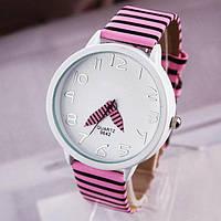 """Часы женские кварцевые наручные """"Зебра"""" розовый"""