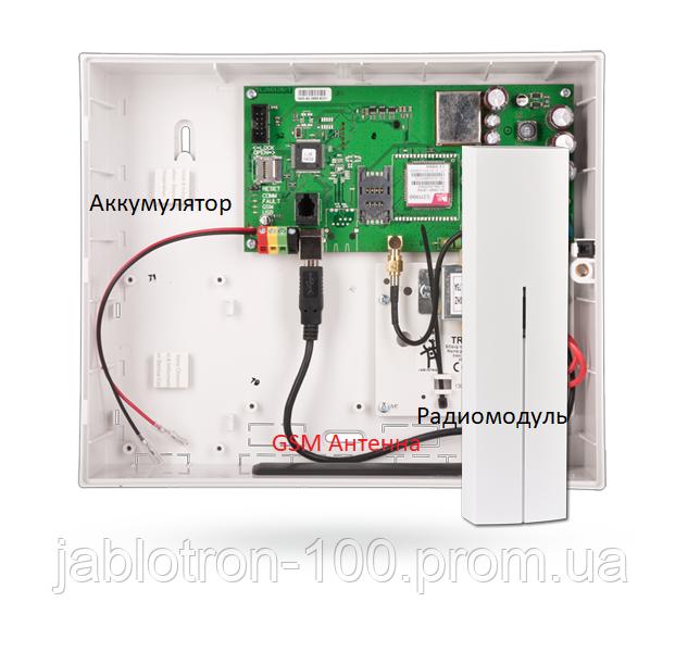 JA-101KR-LAN Контрольная панель системы Jablotron 100 с коммуникаторами GSM, LAN и радио-модулем