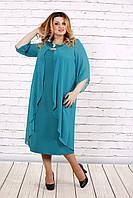 Сукня жіноча з шифоновою накидкою, з 42 по 74 розмір, фото 1