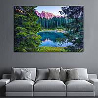 Картина - панорамный вид на горный лес