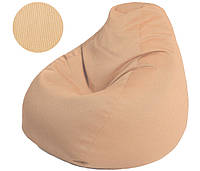 Кресло-груша в бежевом цвете, ткань Оксфорд (размеры: S, M, L)