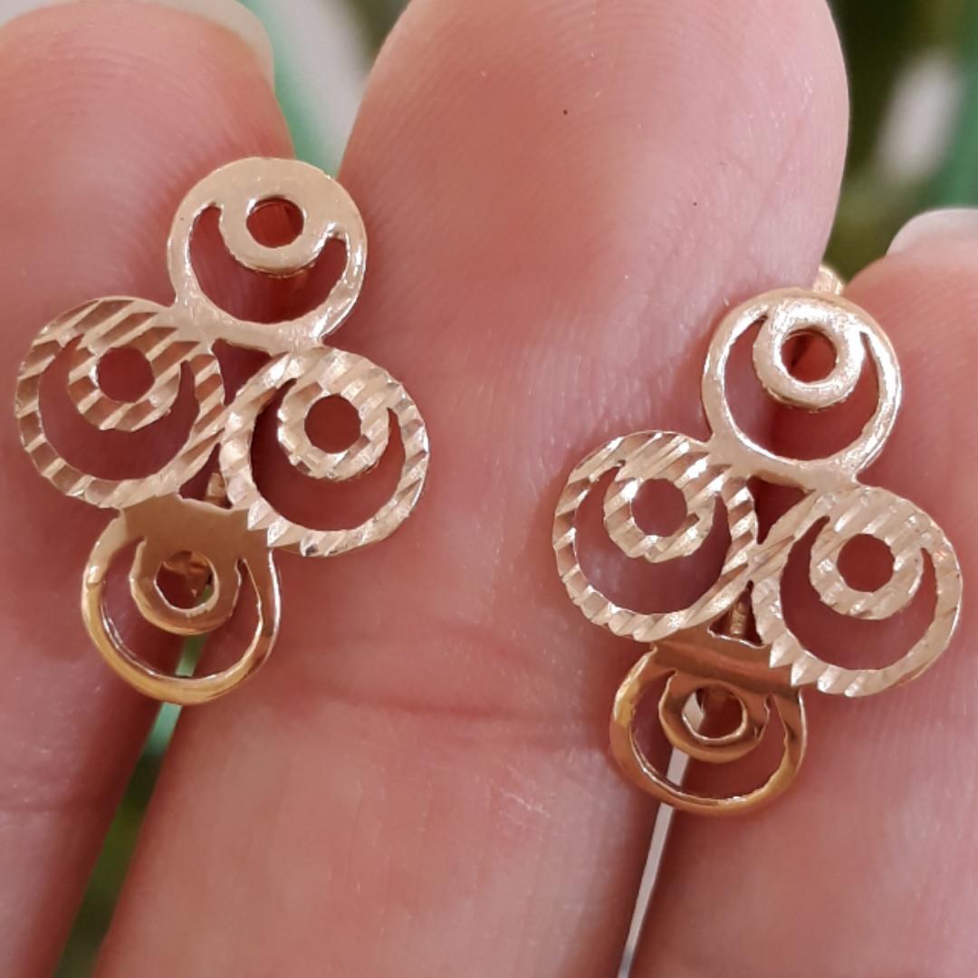 Золоті сережки Хагі - Золоті сережки без каменів