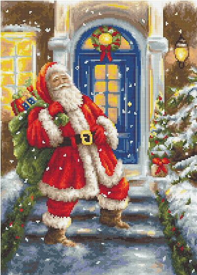 B563 Дед Мороз. Набор для вышивки крестом Luca-S