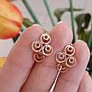 Золоті сережки Хагі - Золоті сережки без каменів, фото 3