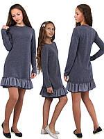 Платье  детское с длинным рукавом   М -1110  рост 110 116 12 128 134 140 146 152 158 164 170 трикотажное, фото 1