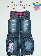 Джинсовый сарафан  для девочки на  3,4,5 лет, фото 1