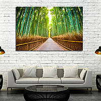 Картина - бамбуковый лес Киото Япония