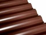 ПВХ лист Salux коричневый, волна