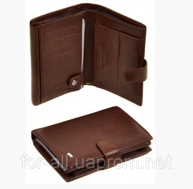 6542689bb66f Мужской кошелек из кожи Dr.Bond М0120 brown: продажа, цена в ...