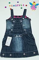 Джинсовый сарафан  для девочки на  3-4 года, фото 1