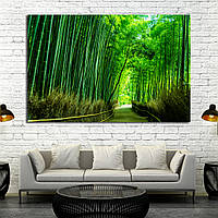 Картина - бамбуковый лес в Токио