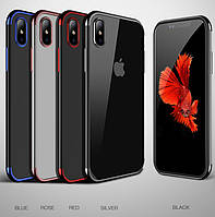 Чехол Cafele silicon  для iPhone X Black