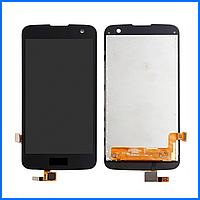 Дисплей (экран) для LG K120E K4 LTE, K121, K130E, K100DS + тачскрин, черный, оригинал