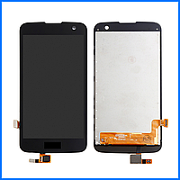 Дисплей (экран) для LG K120E K4 LTE, K121, K130E, K100DS + тачскрин, черный
