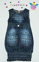 Джинсовый сарафан  для девочки на  рост 128 см, фото 1