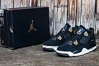 Мужские кроссовки Nike Air Jordan 4 (Найк Аир Джордан) тройной цвет